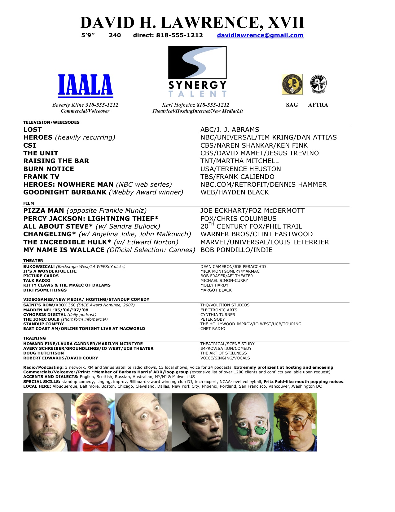 Acting Answers  Sample Actor Resume